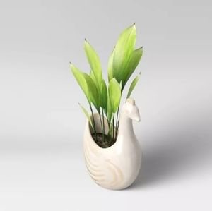 "Opalhouse 4"" Earthenware Planter Bird Figural"